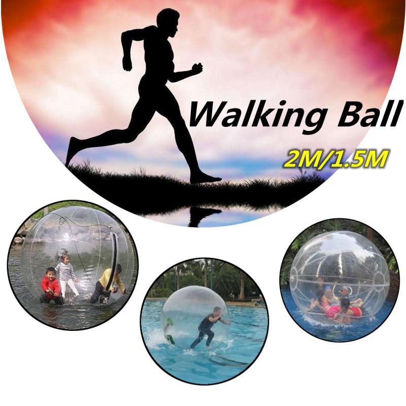 Boule de marche gonflable de l'eau 2 M 1.5 M marche sur l'eau boule de marche rouleau boule gonflable allemande fermeture à glissière PVC
