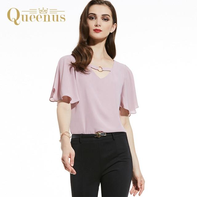 Queenus Women ChiffonTop 2017 Fashion
