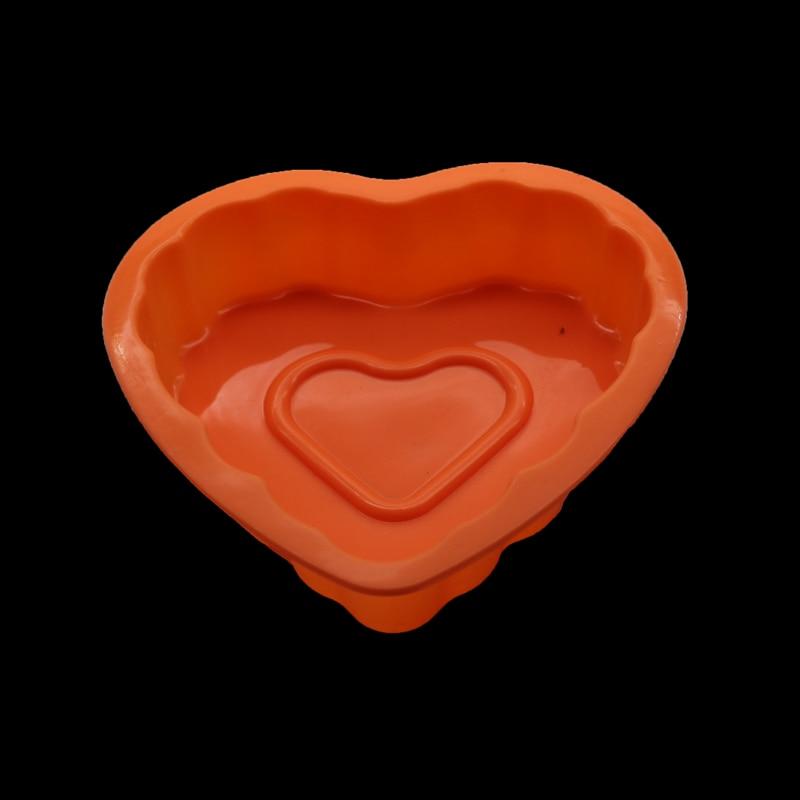 Heart-shaped Cake Decorated Silicone Mold Chocolate Candy Turn Sugar Wedding Decoration Baking Molding