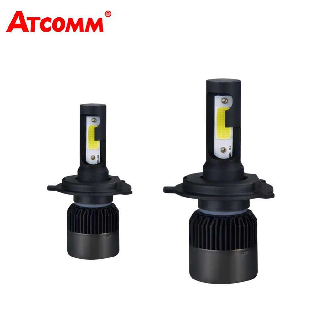 ATcomm 2pcs H7 LED Headlight Bulb mini Lamp COB Chip 12V 8000Lm 6500K 72W 24V Ampoule H7 LED Motorcycle Voiture Auto Lights