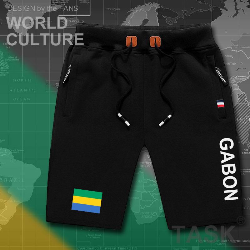 Gabonese Republic Gabon Mens Shorts Beach Man Men's Board Shorts Flag Workout Zipper Pocket Sweat Bodybuilding 2017  Gabonaise