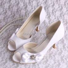 Партия Обуви для Женщины Дамы Туфли На Высоких Каблуках Кружева Свадебное Насосы