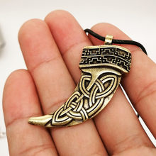 Celtics Claw of Bear pendant Neclace Viking Talisman Celtics Knot Wicca Pagan Jewelry(China)