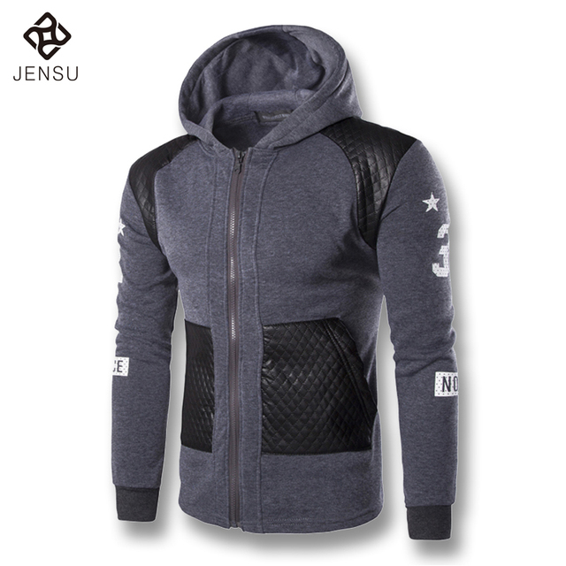 2016 New Men Hooded Jackets Hoodies Sweatshirts Cardigans Men's Casual Fashion Slim Fit Sportswear Coats Outwear Clothing Male