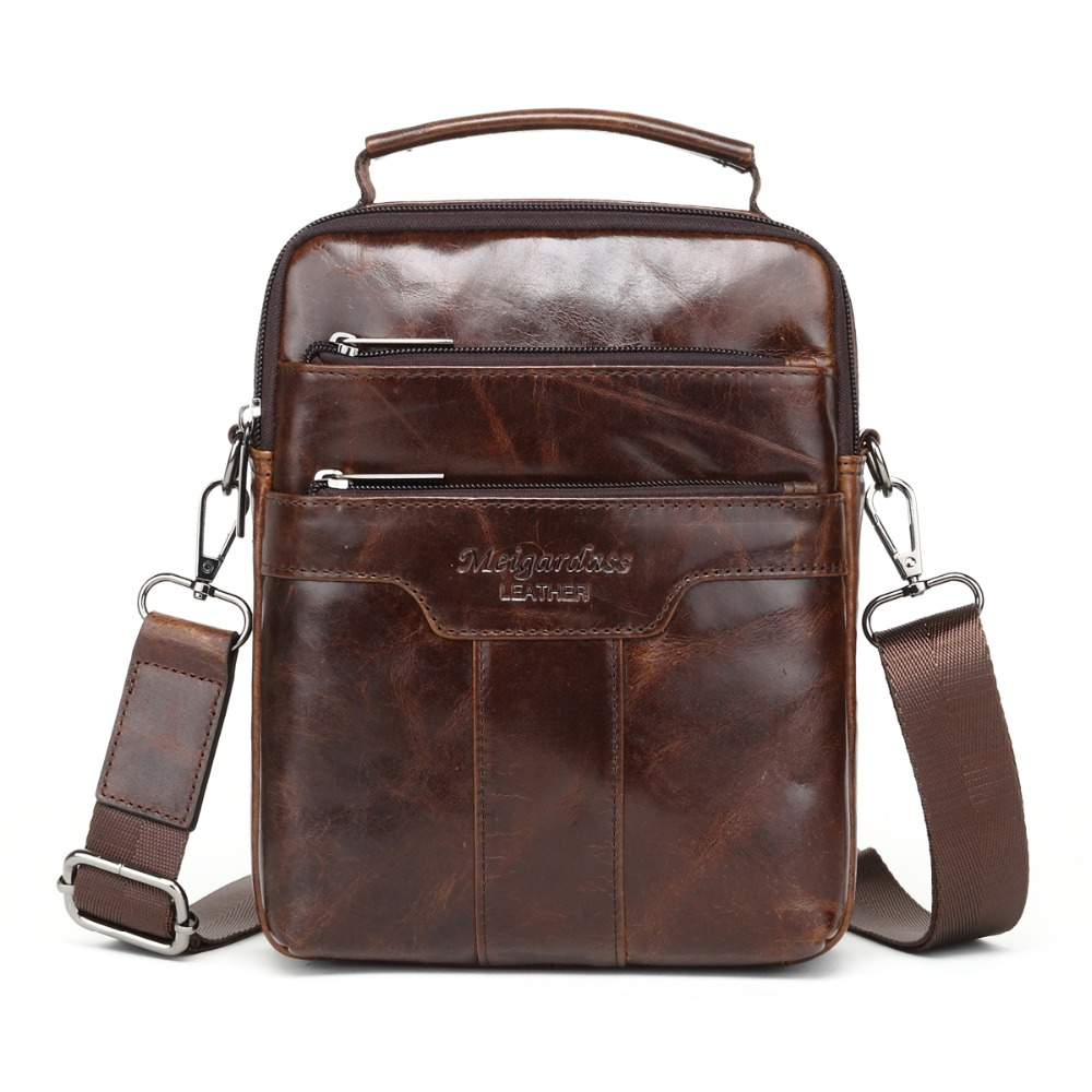 MEIGARDASS new style male genuine leather handbag man bag crossbody shoulder bag small Casual messenger bags for men cowhide