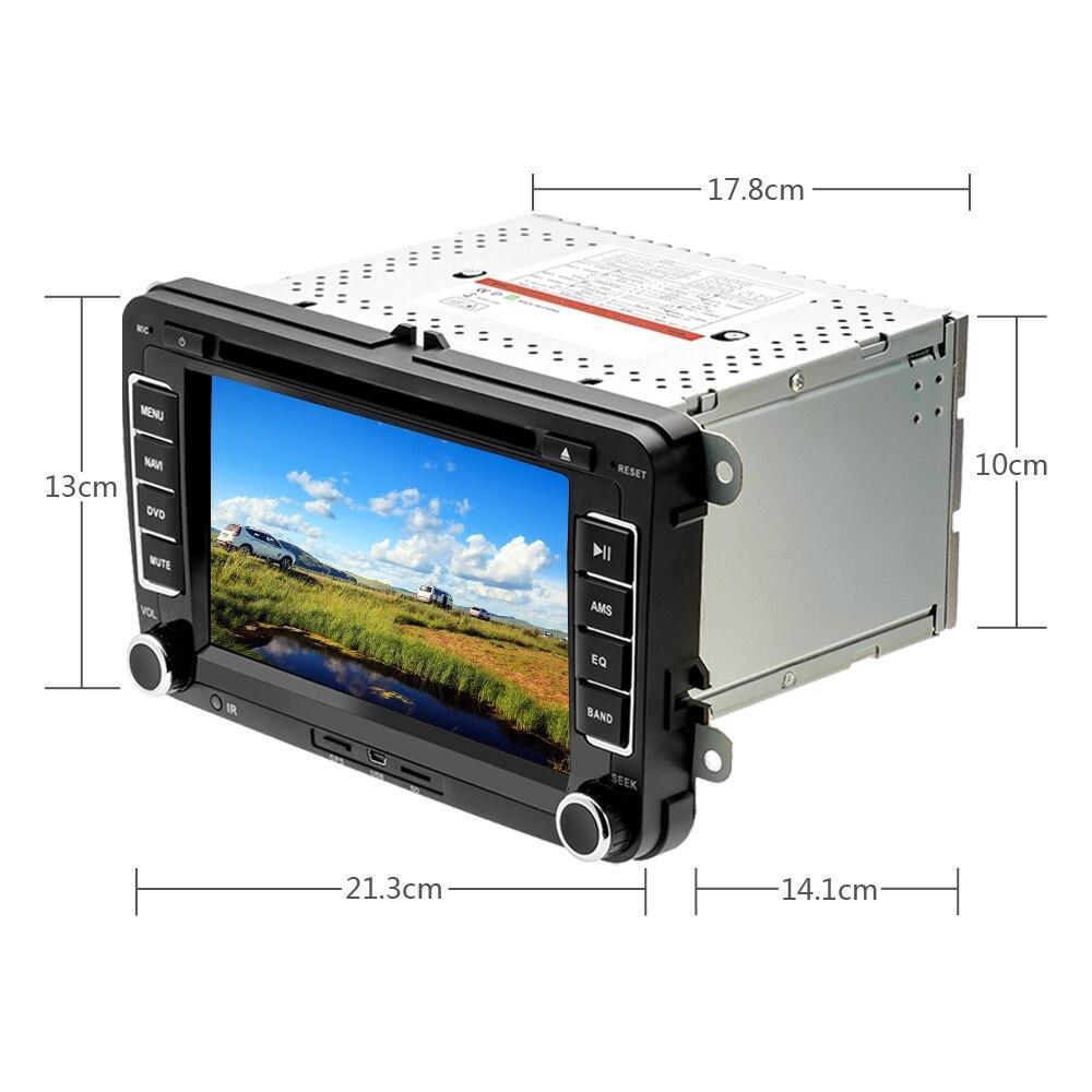 Lecteur multimédia de voiture Camecho deux Din autoradio DVD GPS Auto Radio stéréo pour Skoda/Seat/Volkswagen/VW/Passat b7/POLO/GOLF 5 6 - 5