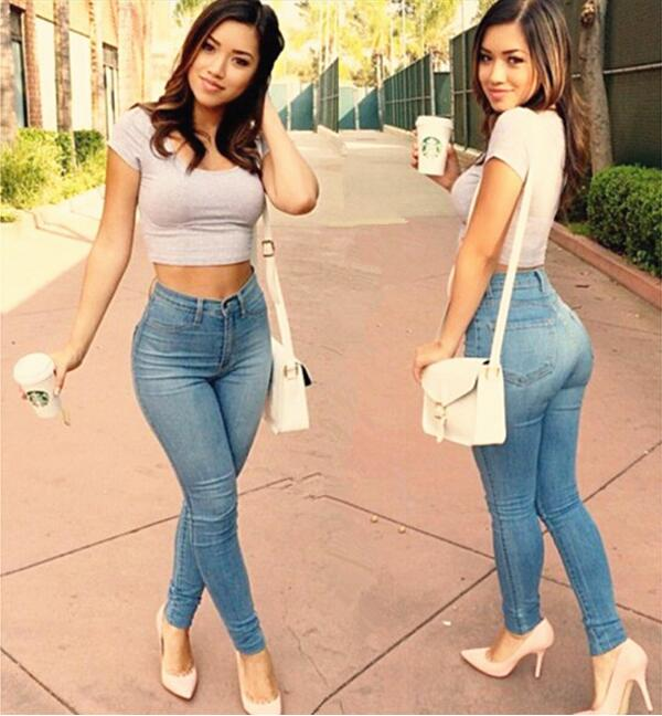 Tight ass in tight pants, nudist weather girls