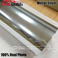 50CM * 100CM do 500CM wysokie rozciągliwe lustro srebrny chrom lustro elastyczne Vinyl Wrap rolka arkusza Film naklejki samochodowe 10/20CM x 152CM