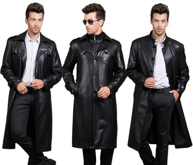 79882a008446 Veste longue cuir noir homme – Mode européenne 2018-2019