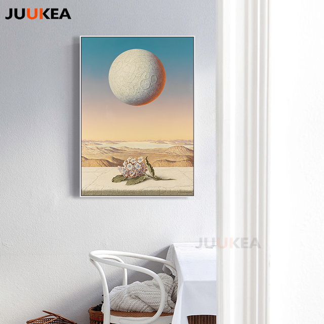 Modern Surrealist Canvas Art Print Painting The World Outside The ...