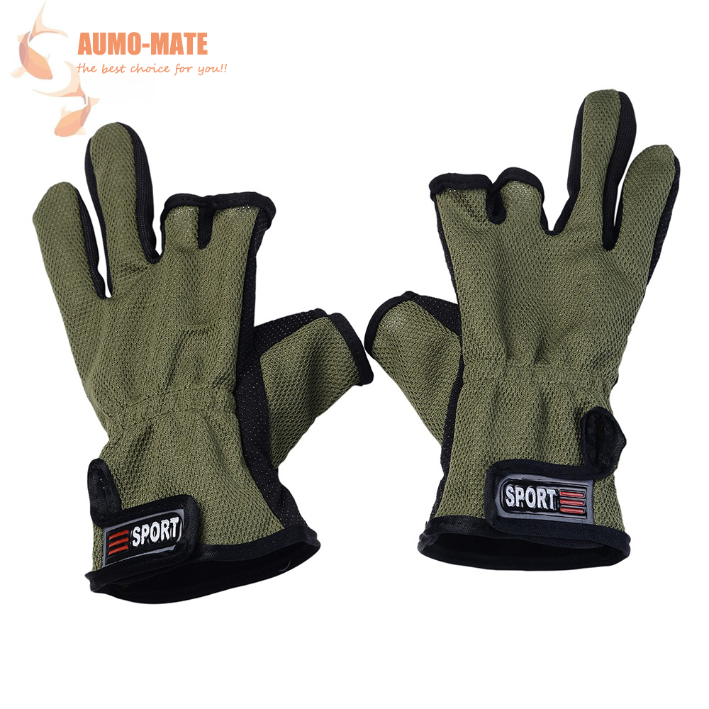High Quality Fishing Gloves Anti Slip Outdoor Sport Slip Resistant Fingers Cut Cotton Gloves Cyling Gloves