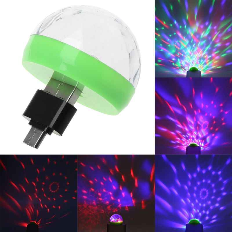 Mini LED Stage Light Rotating Laser Lighting Lamp USB Interface For Bar Home Party Decoration