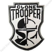 "3.5 ""Star Wars Clone Trooper masque Logo uniforme TV film brodé fer à repasser et coudre sur Cool Patch Badge(China)"