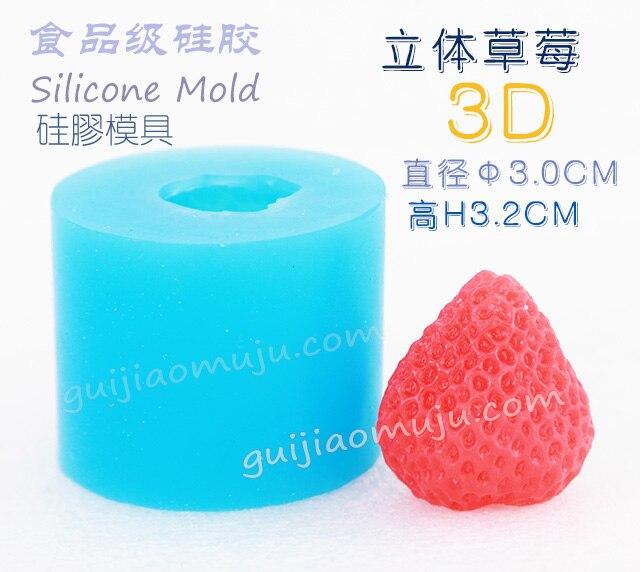 929 DIY Fraise Forme Silicone de Grade Alimentaire Gâteau Moule 3D Fondant Moule Chocolat de Gelée De Sucrerie De Décoration De Cuisson