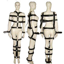 Hot Sale Nipple Clamps Bondage Restraints Full Body Restraint System Faux Leather Sexy Mummy Harness Fetish Toy Sex Game