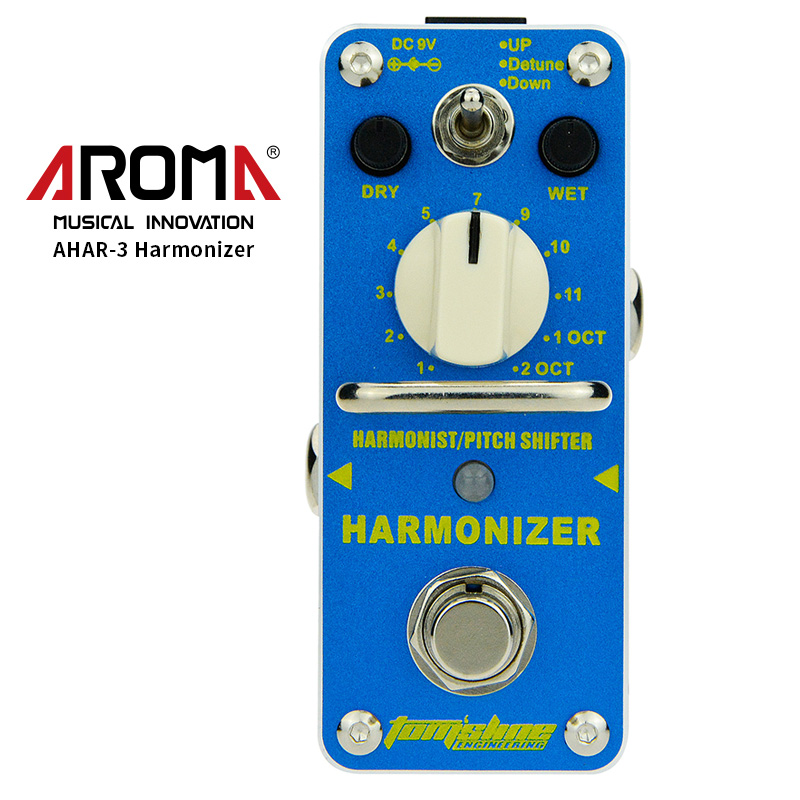 AROMA AHAR-3 Harmonizer Harmonist Pitch Shifter Electric Guitar Effect Pedal Mini Single Effect with True Bypass