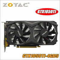 Оригинал ZOTAC видеокарта GeForce GTX 1050 ti GTX1050TI 1050TI GTX1050 4 ГБ 256Bit GDDR5 Графика карты для nVIDIA Hdmi Dvi