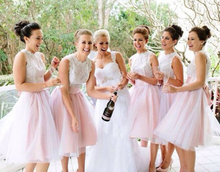 Pale pink lace bridesmaid dresses online shopping-the world ...