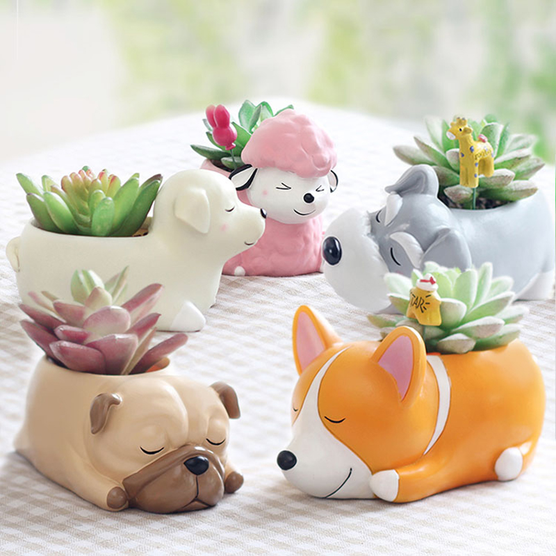 Silicone Molds For Animal Flower Pot Cement Flowerpot Mold Gypsum Flowerpot Mold  3D Animal Shape Mold For Concrete Pot