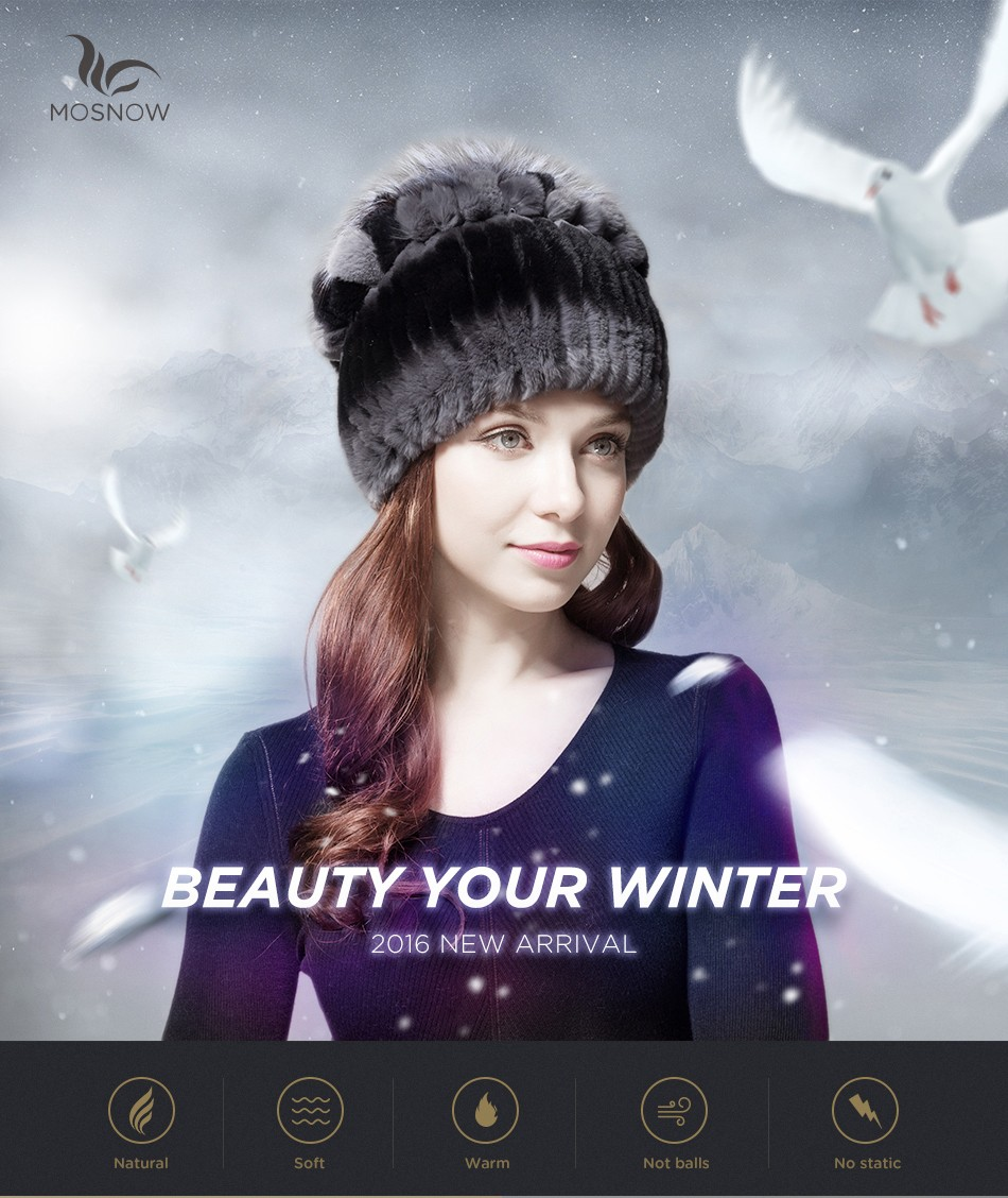 mink fur hats female winter PCM016 (1)