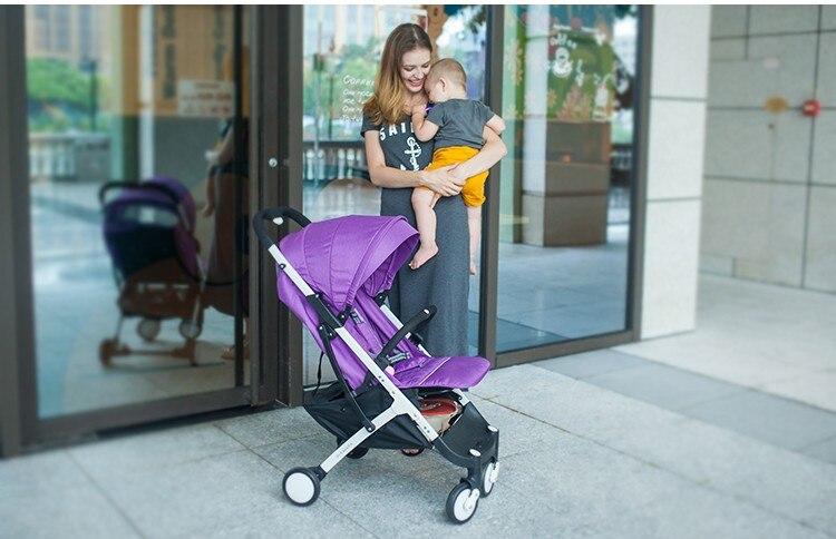 YOYA PLUS wózków dziecięcych ultra lekkie składane mogą usiąść może leżeć wysokiej krajobrazu parasol wózek dla dziecka latem i zimą 14