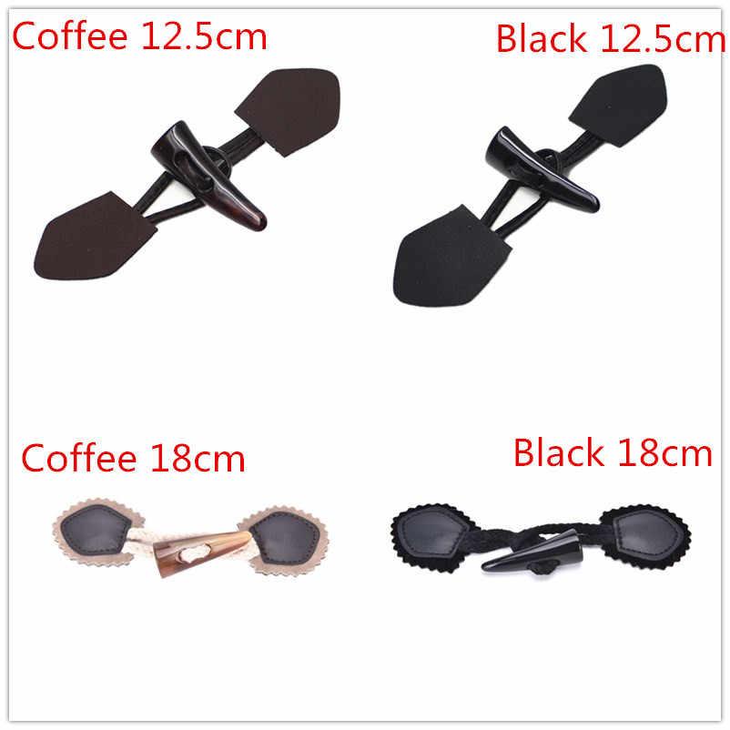 1 個黒/コーヒーホーンレザートグルボタンコートジャケット縫製diyボタンアクセサリー