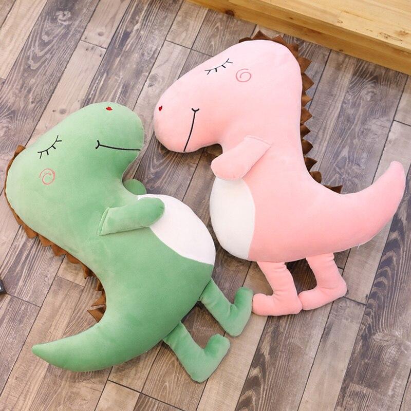 100 см Большой размер игрушки плюшевый динозавр домашнего интерьера набивная Подушка для сна украшения в подарок детям мягкий динозавр пода... - 2