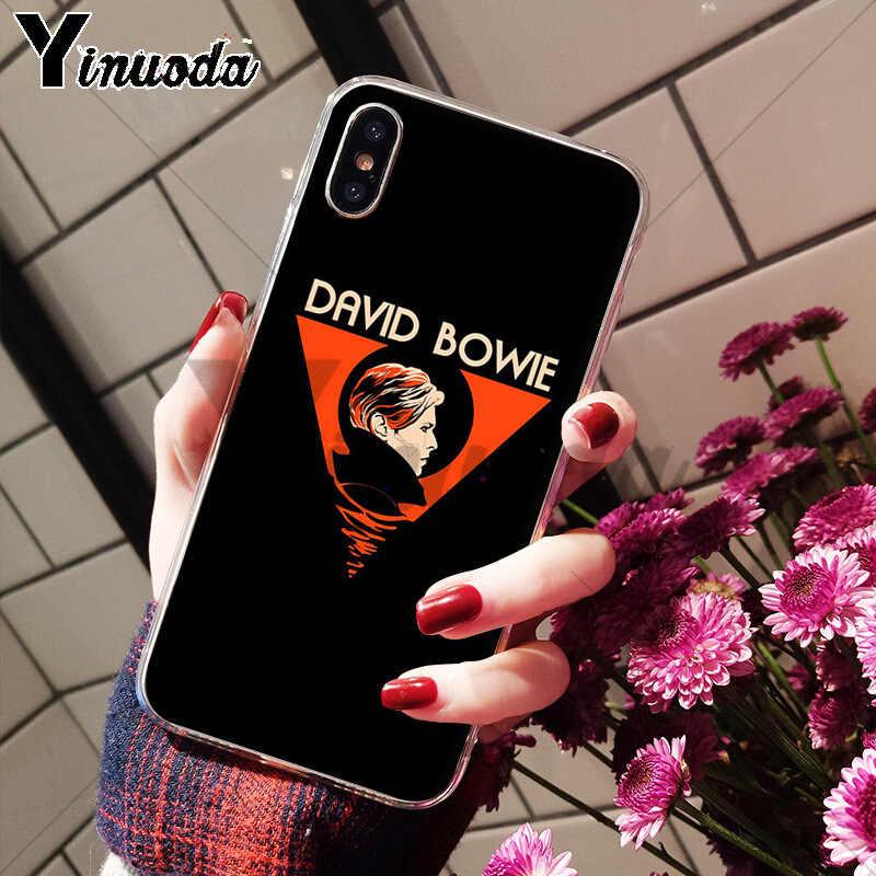 Yinuoda Давид Боуи Мягкий ТПУ силиконовый чехол для телефона аксессуары чехол для Apple iPhone 8 7 6 6S Plus X XS max 5 5S SE XR чехол