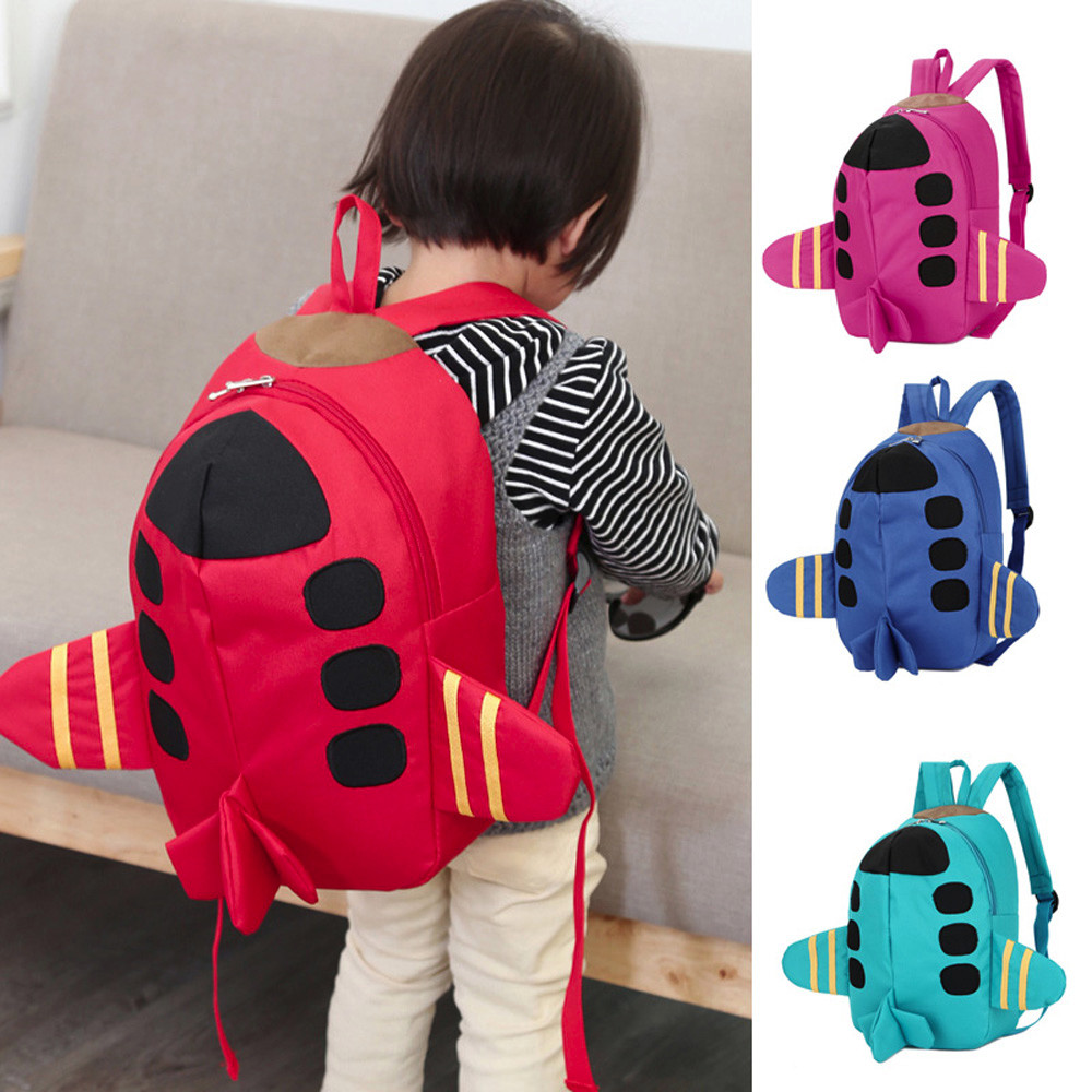 Baby Boys Girls Kids Plane Pattern Animals Backpack Toddler School Bag Children's Cute Cartoon School Backpack Books Bags Rugzak