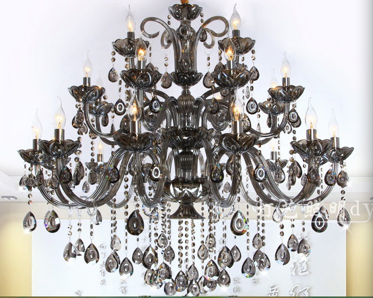 Smokey E14 LED lamps Factory Wholesale modern Smokey crystal chandelier crystal chandelier AC 100 Guaranteed Free