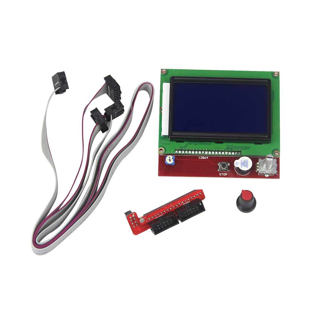 12864 Display LCD 3D Printer Controller +Adapter for RAMPS 1.4 Reprap Mendel GM movenpick мороженое фисташковое 900 мл