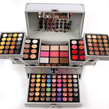 Miss Rose Professional 190 Color Makeup set Piano Box in Aluminum Box Eyeshadow Powder BlushMultifunctional Cosmetic Tool