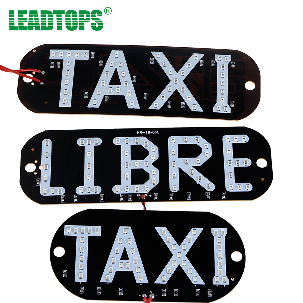 1pcs Taxi LIBRE Lamp LEDs License Plate Car Light Windscreen Cab Indicator Inside LED Taxi Light In led Sign Car taxi For Bmw tin sign 20x30cm 12552 vintage license plate retro car speed poster