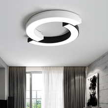 Modern Oval LED Lustre living room ceiling lamps Acrylic bedroom restaurant Dimmable Ceiling Lights lighting Fixtures