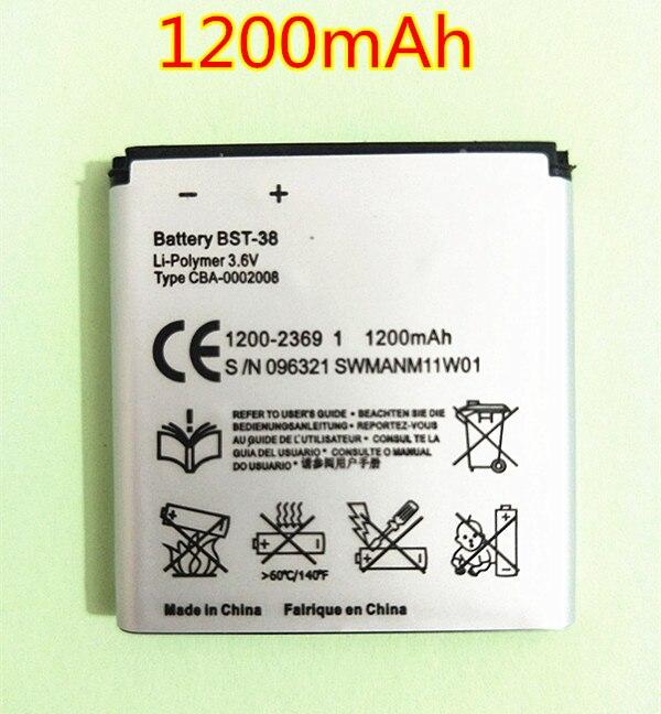Новый аккумулятор для телефона BST-38 BST 38 BST38, 1200 мАч, Сменный аккумулятор для Sony Ericsson K770 K770i K580 K850i K858 R300 R306 S312