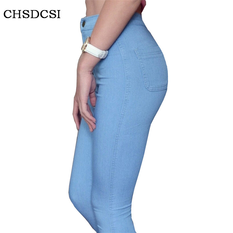 Brand Jeans Fashion Women Pants Plus Size Stretch Skinny High Waist Sexy Pant Woman Blue Pencil Casual Slim denim Clothing K095 rosicil women jeans plus size stretch skinny high waist jeans pants women blue pencil casual slim denim pants top 003