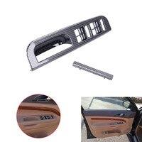 ABS Carbon Grain Door Window Switch Bezel + Handle Trim Set For VW Jetta Golf GTI Bora MK4 Passat B5 1997 2005 Car Styling C~5
