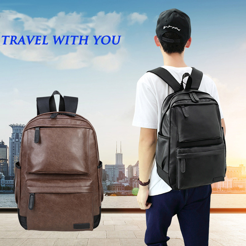 Image 5 - Waterproof Women's bag Schoolbag PU leather Female Male Backpack Fashion Travel a Bag Pack for Teenage Girls Rucksack Mochila-in Backpacks from Luggage & Bags