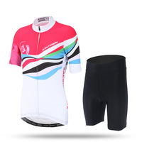 2017 Colorful Bicycle Bike Cycling Clothing Wear Jersey Shorts Sets For Women