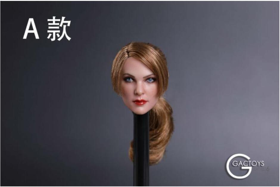 "1//6 Female Head Sculpt Purple Red Hair GC019 For 12/"" Figure PHICEN Hot Toys B"