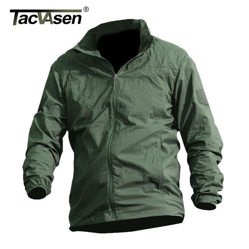 Image 2 - TACVASEN Summer Waterproof Quick Dry Tactical Skin Jacket Men Hooded Raincoat Thin Windbreaker Army Military Jacket TD QZJL 013army military jacketmilitary jacketjacket men -