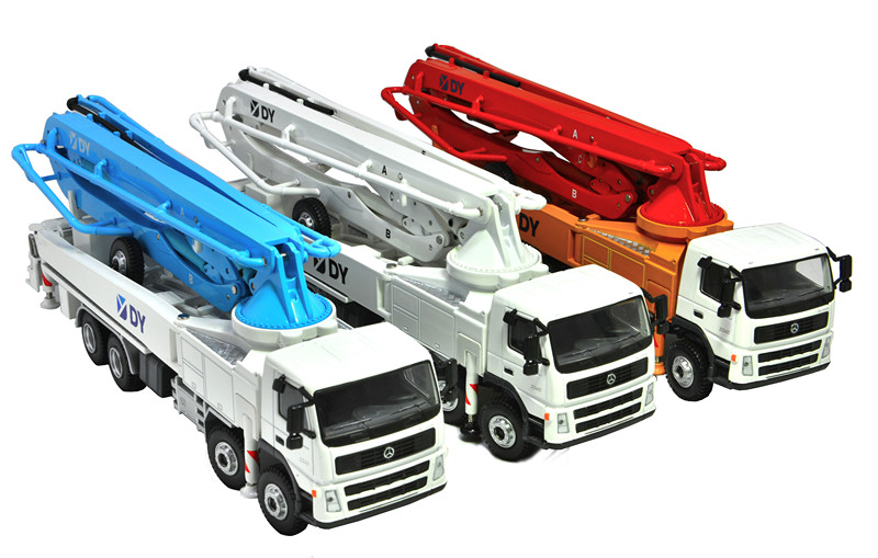 Exqusite Alloy Model 1:50 Scale Original DY Concrete Pump Truck Vehicles DieCast Toy Model for Collection,Play, DecorationExqusite Alloy Model 1:50 Scale Original DY Concrete Pump Truck Vehicles DieCast Toy Model for Collection,Play, Decoration
