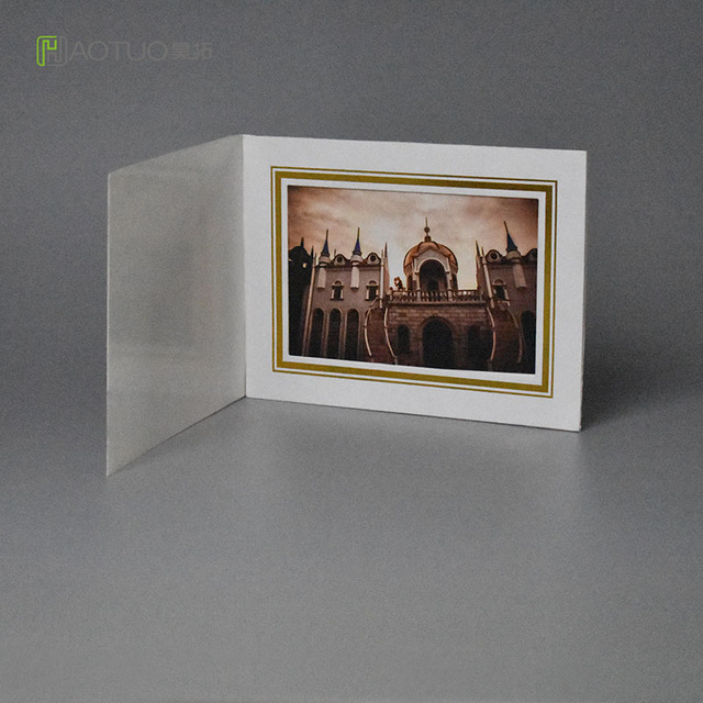 Photo Folders Acid Free Cardboard Picture Frame with Gold Line for ...
