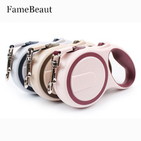 FameBeaut New Arrival Brand ABS High Grade Stable Durable 3M 5M Automatic Retractable Dog Traction Rope