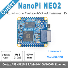 Nanopi NEO2 Allwinner H5, 64 бит высокая производительность, quad-core A53 Плата прототипирования, Бег ubuntucore