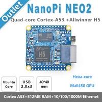NanoPi NEO2 Allwinner H5,64 Bit High performance,Quad Core A53 Demo Board, Running UbuntuCore