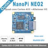 NanoPi NEO2 Allwinner H5 64 Bit High Performance Quad Core A53 Demo Board Running UbuntuCore