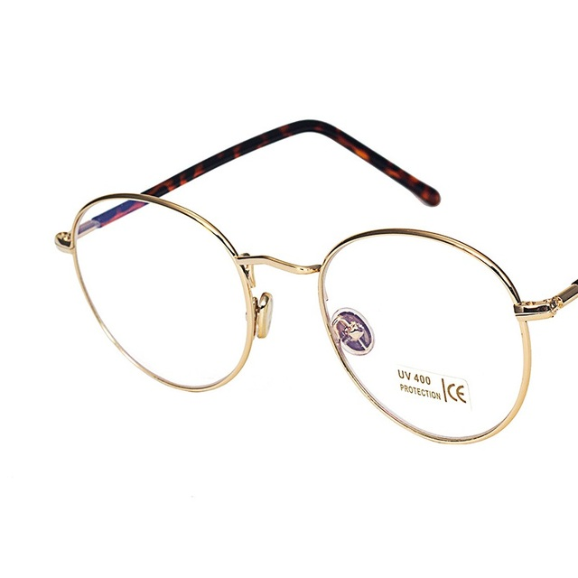 30166909faf Vazrobe Gold Round Glasses Frame Men Women Vintage Retro Eyeglasses Frames  Men s Glasses clear plain lens women s degree points