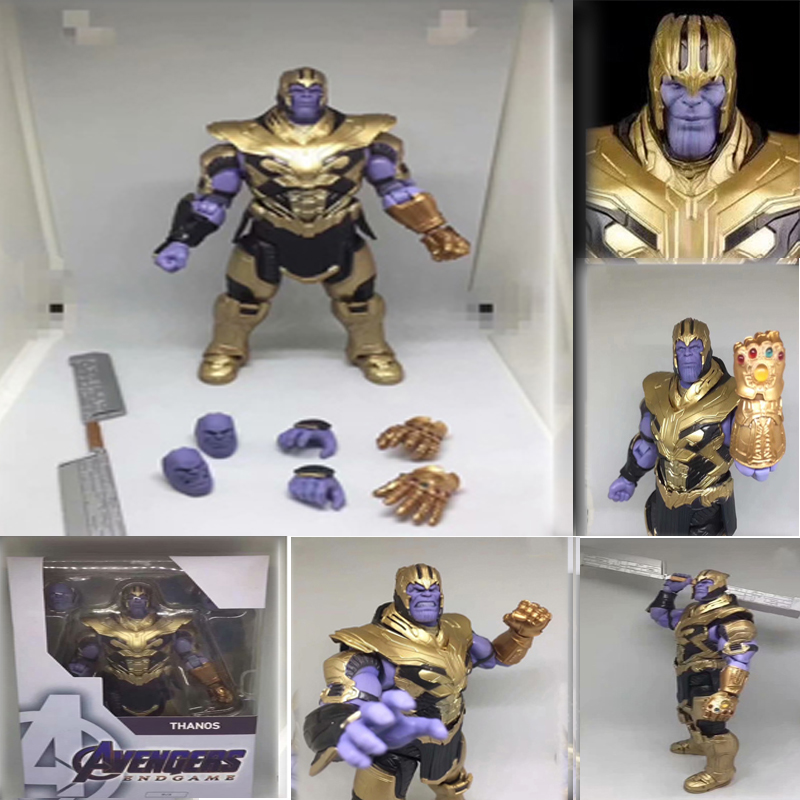 18cm Marvel Avengers 4 Endgame SHF Thanos Figuarts Action Figure Collectible Toys Gift image