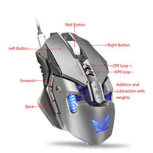 3200 Dpi LED Light USB Kabel Kompetitif Gaming Mouse 7 Tombol Yang Dapat Diprogram Mechanical Macro Pemrograman Definisi Permainan Mice(China)